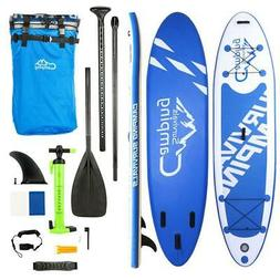 """Adjustable 10'10"""" SUP Inflatable Stand Up Paddle Surf Board"""