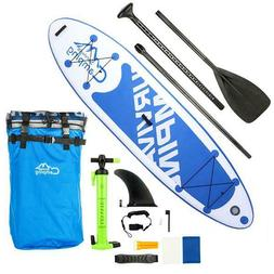 """10'10"""" x 32"""" Inflatable Stand Up Paddle Surf Board SUP Packa"""