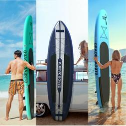 10/11 FT 6'' Deck Inflatable Paddle Board Stand Up Surfing N