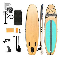 """10'2"""" Stand Up Inflatable Paddle Board 6"""" Thick Non-slip SUP"""