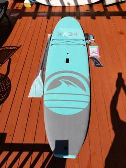 "Peak 10'5"" Escape Soft Top Aqua Stand Up Paddle Board"