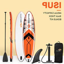 10.5' Inflatable Stand Up Paddle Board SUP W/ Fin Adjustable