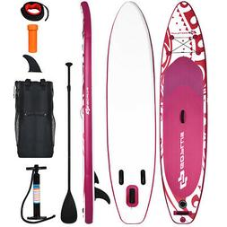 11' Inflatable Stand Up Paddle Board W/Carry Bag Adjustable