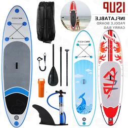 10' Inflatable Stand Up Paddle Board  w/ SUP Accessories & C