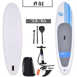 10 Foot Inflatable Stand Up Paddle Board SUP Kayak White Wit