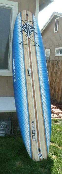 SCOTT BURKE 10 ft. 6 in. stand up paddleboard W/Paddle and m