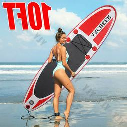 10 FT Inflatable Stand Up Paddle Board SUP Surfboard With Co