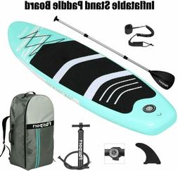 """10"""" Inflatable Paddle Board SUP Stand Up Paddleboard & Acces"""