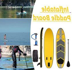 10' Inflatable Stand Up Paddle Board Adjustable Fin Paddle w