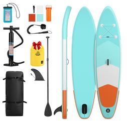 10' Inflatable Stand Up Paddle Board SUP Surfboard All Aroun
