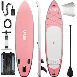 10' Inflatable Stand Up Paddle Board SUP Surfboard Carbon Ad