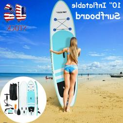 ·10' Inflatable Stand Up Paddle Board SUP Surfboard with co