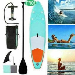 10' Inflatable Stand up Paddle Board Surfboard SUP W/ Bag Ad