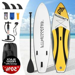 10' Inflatable Stand Up Paddle Board Surfboard SUP Adjustabl