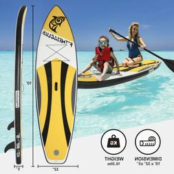 10' Inflatable Stand up Paddle Board Surfboard Paddleboard F