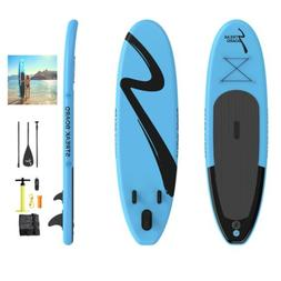 10'Inflatable Stand Up Paddle Board Surfing SUP Boards Deck