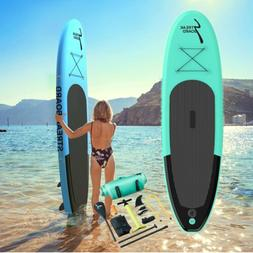 10' Inflatable Stand Up Paddle Board Surfing SUP Boards, No
