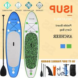 Ancheer 10' Inflatable SUP Stand Up Paddle Surfboard Board &