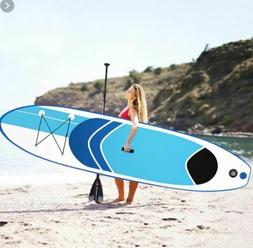 iSUP 10' Inflatable Stand Up Paddleboard Surfboard with SUP