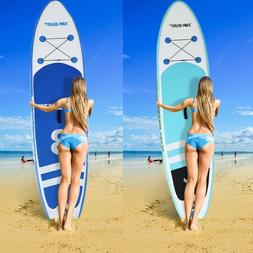 10' Inflatable Super Stand Up Paddle Board Surfboard Adjusta