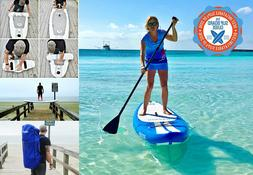 IROCKER 10' INFLATIBLE STAND UP PADDLE BOARD WITH ACCESSORIE