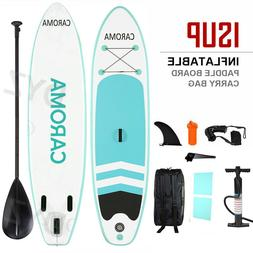 CAROMA 10FT Inflatable Stand Up Paddle Board Portable Surfbo