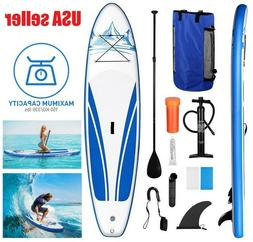10FT Inflatable Stand Up Paddle Board SUP Surfboard Adjustab