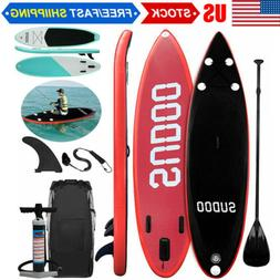 10FT SUP Inflatable Paddle Board Stand up Surfboard Water Ra