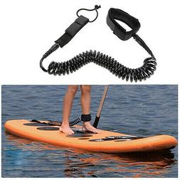 10ft Surfboard Ankle Leash Rope Coiled Stand Up Paddle Board