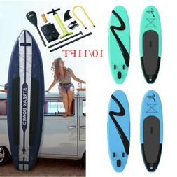 11/10ft Inflatable Stand Up Paddle Board Non-Slip Deck w/ Co
