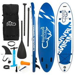 11' Adjustable Inflatable Stand Up Paddle Board Fin Paddle w