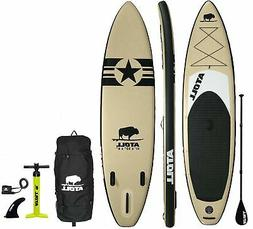 Atoll 11' Foot Inflatable Stand Up Paddle Board (6 Inches Th