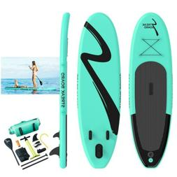 11'Inflatable Non-slip Stand Up Paddle Board Surfing SUP Boa