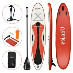 11' Inflatable Stand Up Paddle Board Non-Slip Deck Adjustabl