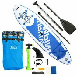 "10'10"" Inflatable Stand Up Paddle Board SUP w/ 3 Fins Adjust"