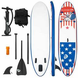 11' Inflatable Stand Up Paddle Board SUP W/ Fin Adjustable P