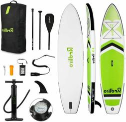 11' Inflatable Stand Up Paddle Board SUP Surfboard with Comp