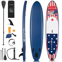 Goplus 11' Inflatable Stand Up Paddle Board Surfboard W/Pump