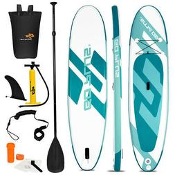 11' Inflatable Stand up Paddle Board Surfboard W/Bag Water S