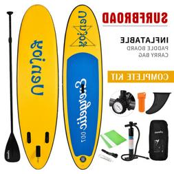 11' Inflatable Stand Up Paddle Board Surfboard SUP Adjustabl
