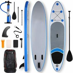 11' Inflatable Stand Up Paddle Board Surfboard SUP w/Fin+Com