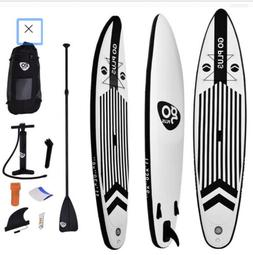 Goplus 11' Inflatable Stand Up Paddle Board w/ Adjustable Pa