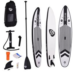 11' Inflatable Stand up Paddle Board w/ Adjustable Paddle Bl