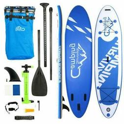 "10'10"" x 32"" Inflatable Stand Up Paddle Surf Board SUP Packa"