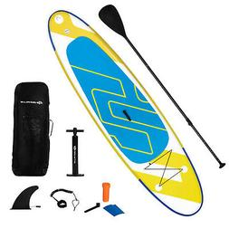 "11ft Inflatable Stand Up Paddle Board 6"" Thick w/ Leash Ba"