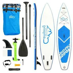 """12'x32""""x6"""" Inflatable Stand Up Paddle Surf Board SUP Package"""