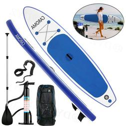 CAROMA 10' Inflatable Stand Up Paddle Board SUP Surfboard wi