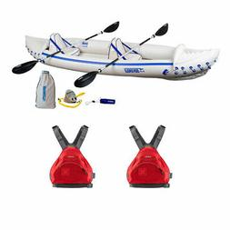 Sea Eagle 370 Pro Inflatable Kayak w/ NRS Adult Large Life V