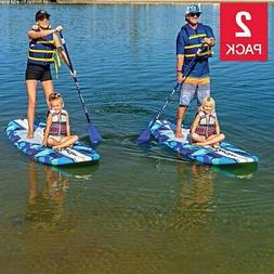 "Wavestorm 9' 6"" Stand Up Paddleboard Blue Camo 2-Pack"