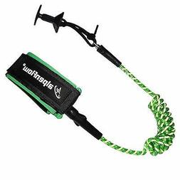 A ALPENFLOW 4' Coiled Bodyboard Bicep Leash For Surfboard St